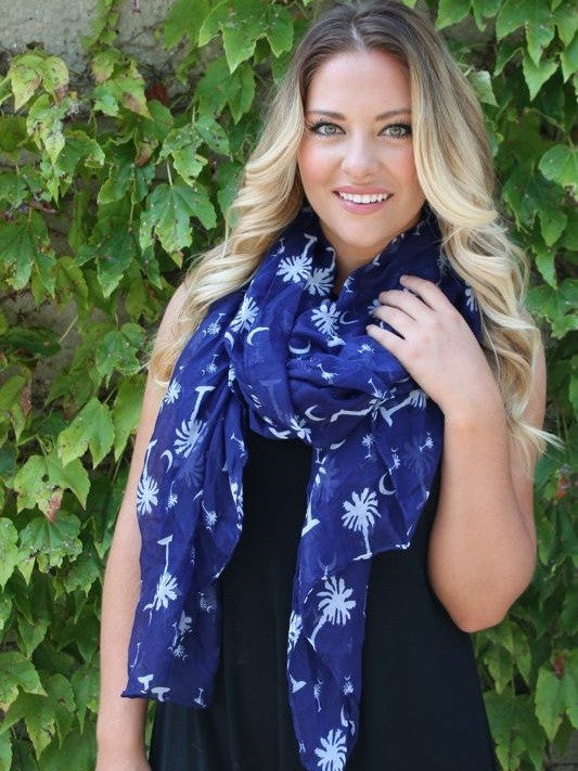 Moon and Palmetto Scarf