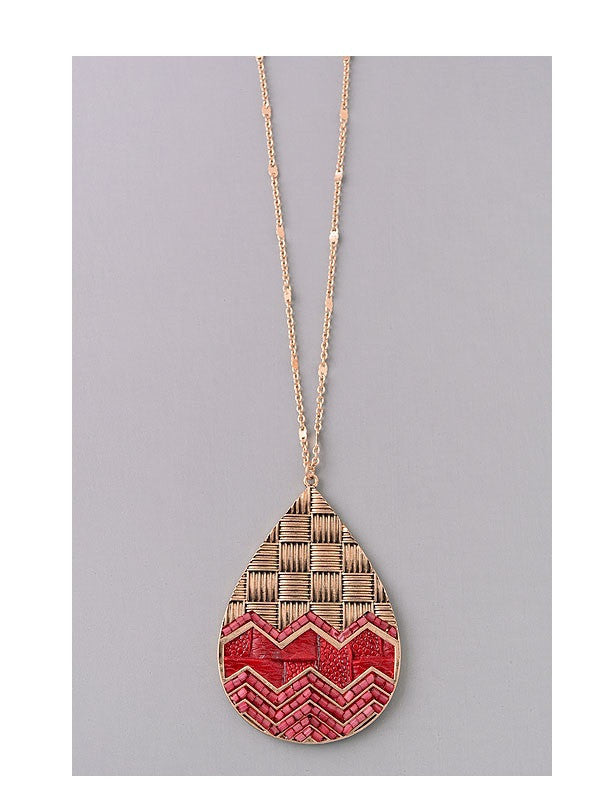 Tribal Inspired Pendant Necklace