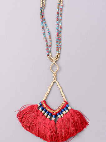 Boho Tassel Pendant Necklace