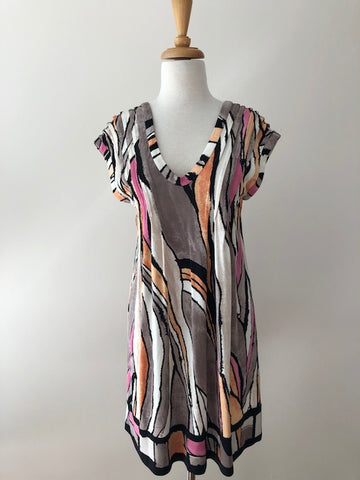 Ali Ro Silk Scoop Back Dress, size 4