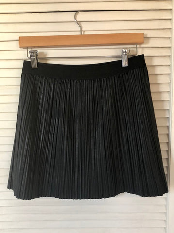 BCBG MaxAzria Black Pleated Mackenzie Skirt