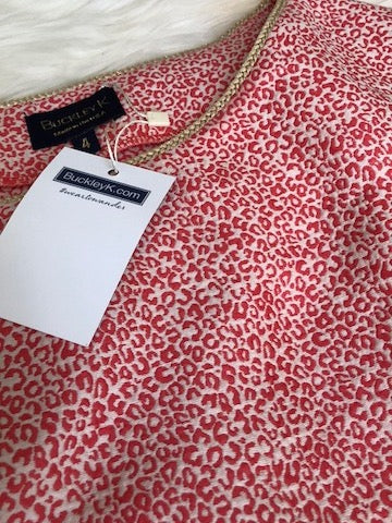 Buckley K Print Top with Tags, size 4