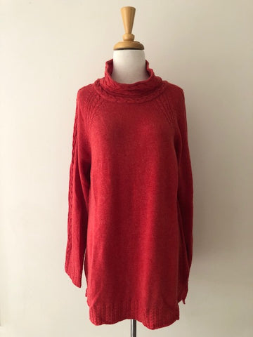 Claudia Nichole Cowl Neck Sweater w/ Tags, size L