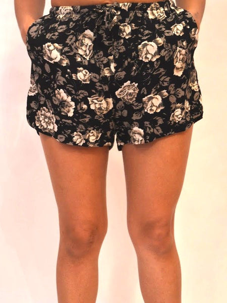 So You! Floral Shorts