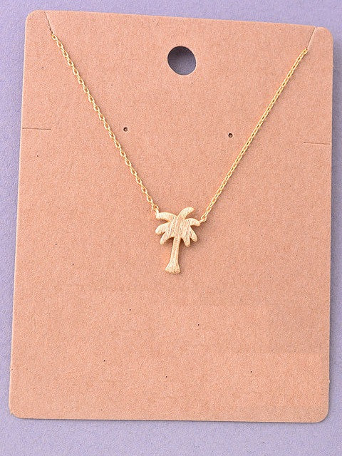 Palm Tree Delicate Necklace
