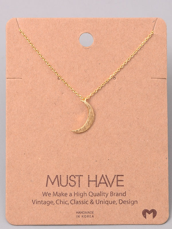 Must Have Crescent Moon Necklace