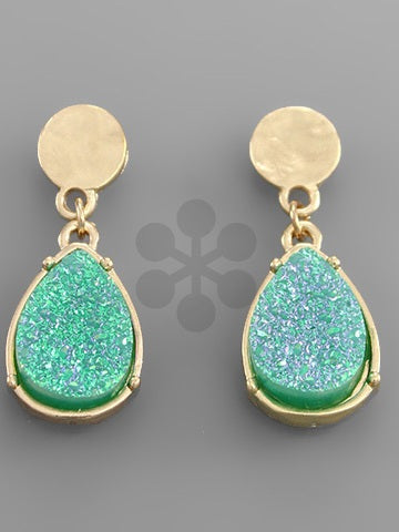 Druzy Drop Earrings