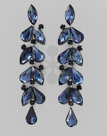 T-Drop Multi Stone Earrings