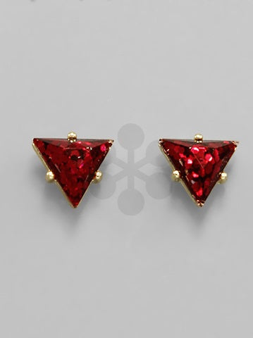 Shimmery Triangle Studs