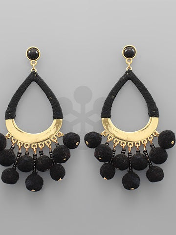 Pom Statement Earrings