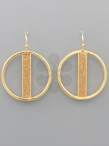 Geo Circle Metal Earrings