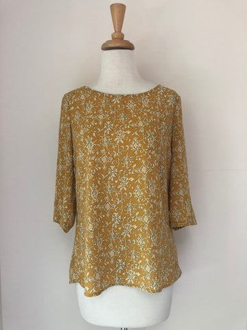 HD in Paris Eira Yellow Blouse, size 0