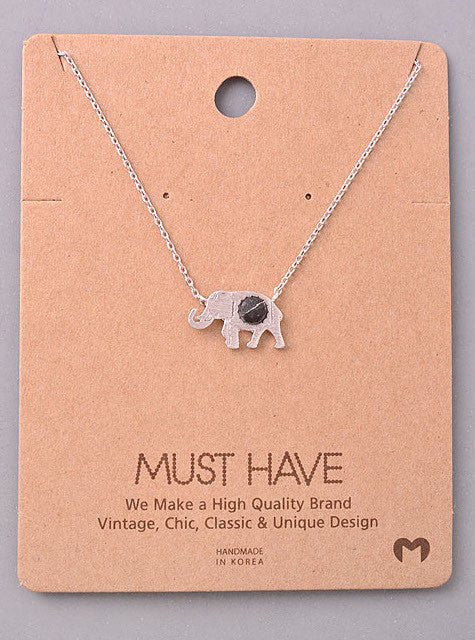 Must Have Elephant Stone Necklace