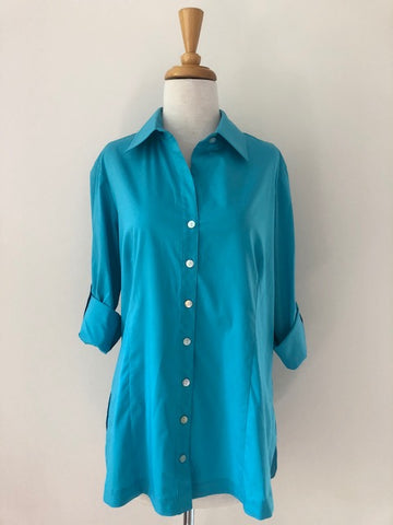 Finley Joey Roll Sleeve Blouse w/ Tags, size M