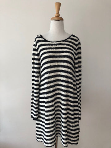 Free People Long Sleeve Stripe Dress, size XS