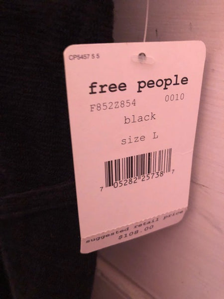 Free People Black Dress W/ Tags, sz L