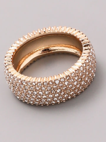 Jewel Encrusted Band Ring