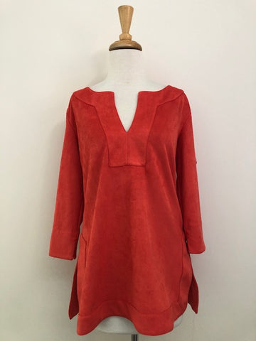 Gretchen Scott Faux Suede Tunic w/ Tags, size M
