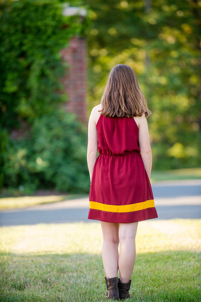 Garnet & Gold Gridiron Glam Dress
