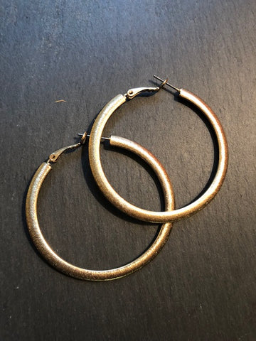 Shimmery Gold Hoop Earrings