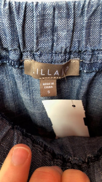 Lilla P Hatch Chambray Pull On Skirt w/ Tags