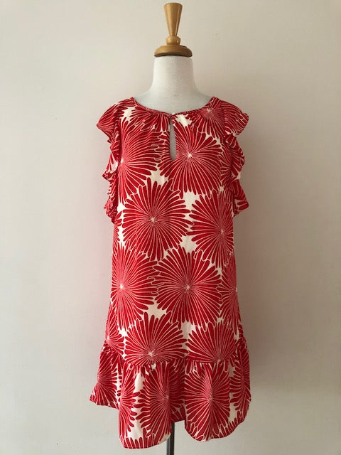 J.Crew Flutter Dress in Red Sunburst w/ Tags, size XS