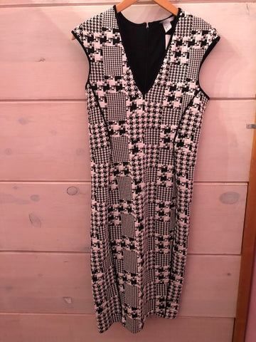 H&M Black Houndstooth Print Dress