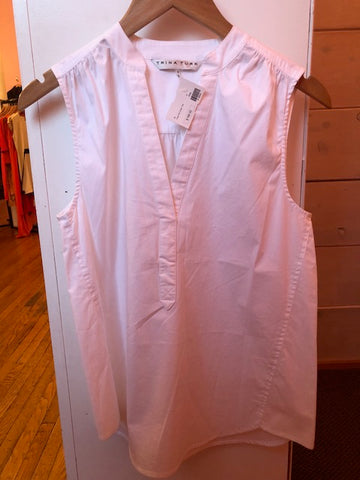 Trina Turk White Sleevless Top w/ Tags