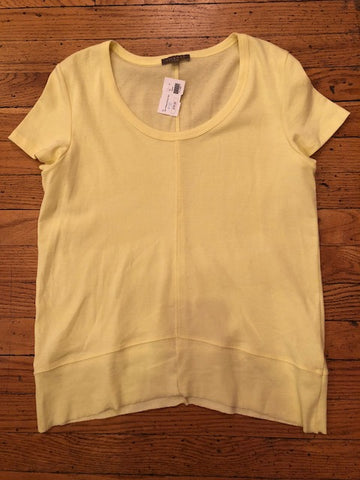 Lilla P Yellow Scoop Neck Top w/ Tags