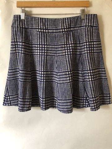 J.McLaughlin Blue Fit and Flare Skirt
