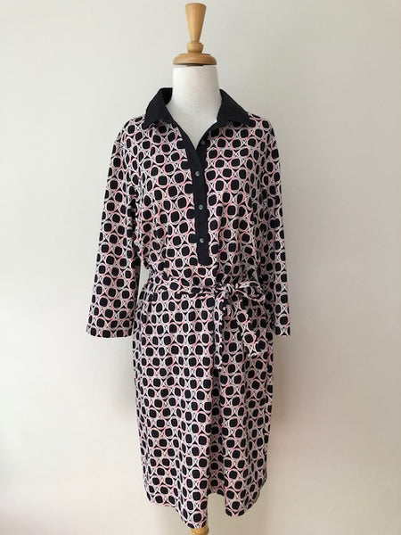 J. McLaughlin Circle Geo Print Dress, size XL