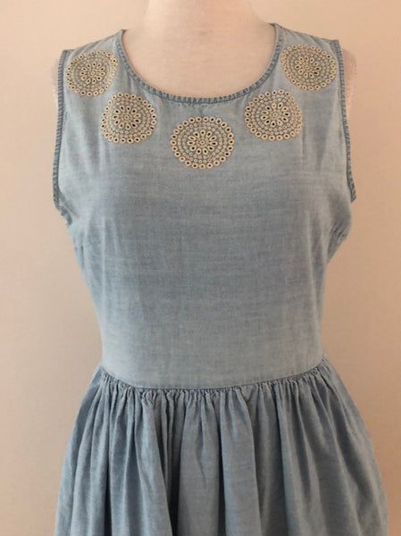 Jack Wills Cotton Chambray Dress, size 6