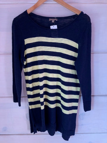 Lilla P Navy Stripe Sweater, size M