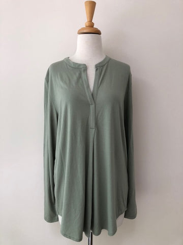 Lilla P Long Sleeve Tunic Top, size L