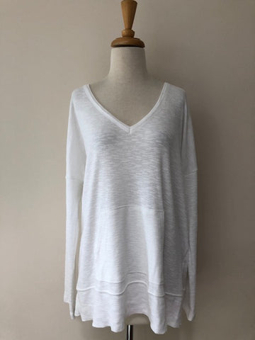 Lilla P Long Sleeve Easy V Neck, size XL