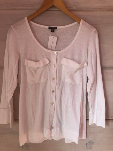 Lilla P Pima Cotton White LS Shirt, size S