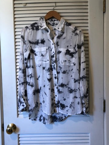 Lou & Grey Tie Dye Button Down Shirt