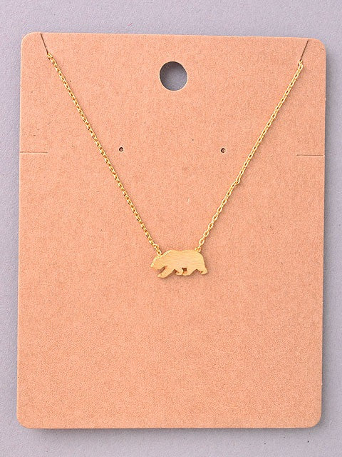 Bear Delicate Necklace