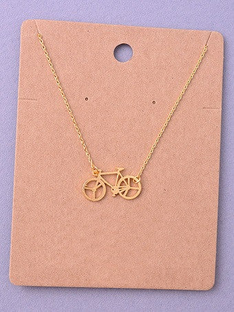 Bicycle Delicate Necklace
