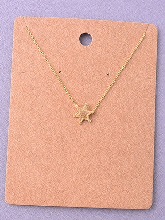 Sheriff Star Delicate Necklace