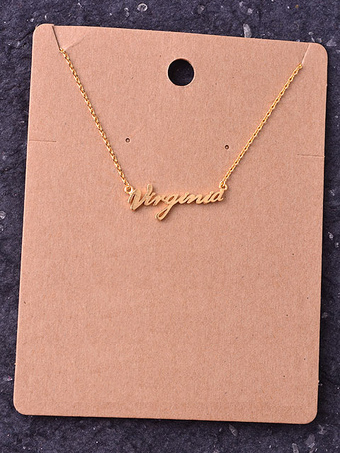 Virginia Script Delicate Necklace