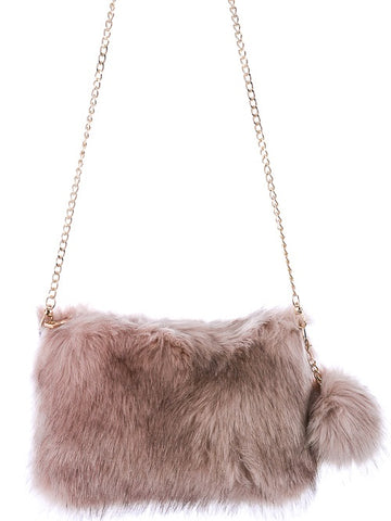 Fuzzy Shoulder Bag