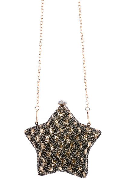Sequin Star Clutch Handbag