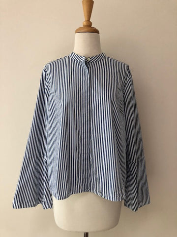Madewell Stripe Bell Sleeve Top, size M
