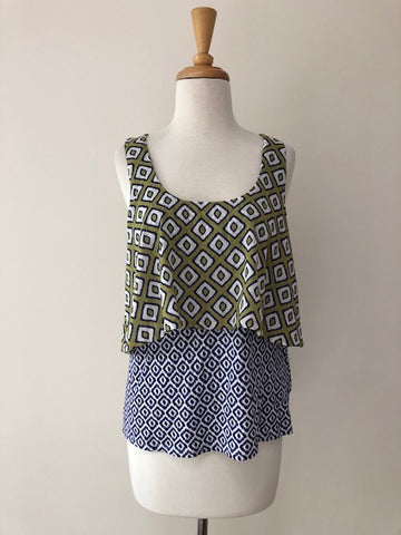Meadow Rue Print Layer Tank, size S