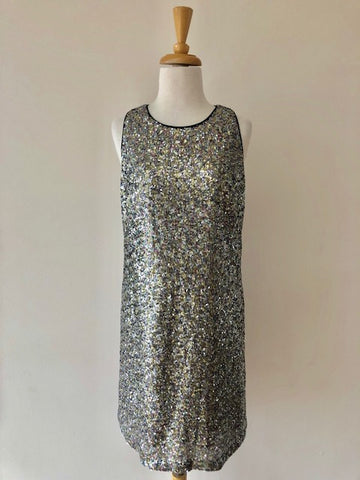 Milly Sequin Racerback Shift Dress w/ Tags, size 8