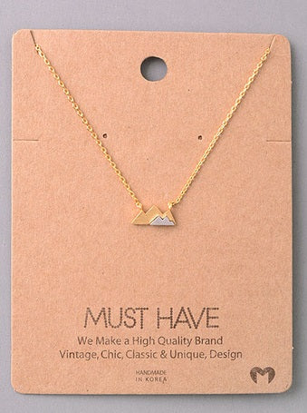 Mountain Range Delicate Necklace