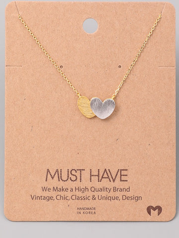 Must Have Two Hearts Necklace