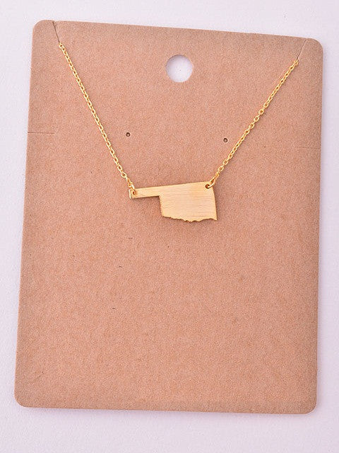 State Necklace - Oklahoma