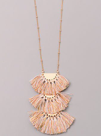 Tiny Tassel Tiered Necklace